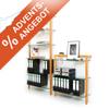 Unser Angebot zum 4. Advent: Massivholzregal-Set QUADRA mit 6 und 3 Glasböden
