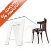 Unser besonderes Angebot zum 1. Advent: Tischböcke Lycka  inklusive Glastischplatte