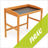 New: Secretary desk made of cherry wood with black table top - Art. 6193