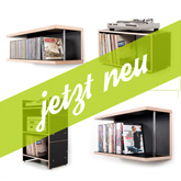 Multiplex schwarz - jetzt neu - Kastenregal BOKSA, ROADIE Hifi-Regal, CD-Regal STORIT, DVD-Regal LIBRIT