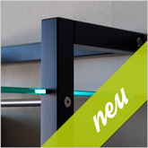 Neu: QUADRA Edition schwarz - LP-Regal Art. 6124