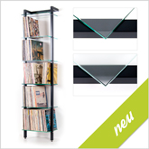 New: QUADRA Edition black - LP Shelving unit Art. 6124