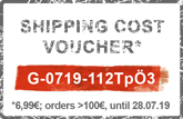 Coupon code for the shipping costs