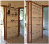 Customer Picture - QUADRA Shelving unit cherry wood with glass panes - Art. 6117