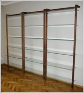 Customer Picture - QUADRA Storage shelf made of walnut - Art. 6118