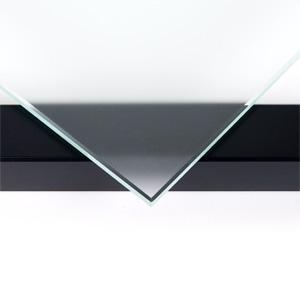 Häufig Kleines QUADRA Wandregal aus Holz in schwarz mit 3 Glasböden XG08