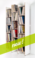 New! ORWE plywood shelf for records in white
