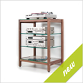 New - Hifi-Rack QUADRA walnut wood