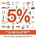 Rabattaktion - 5% auf alles