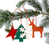 Weihnachtsartikel - Weihnachtsbaumschmuck Filzanhänger, Kerzenleuchter, Büroset Snow Edition