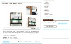 QUADRA system shelving unit made of solid walnut wood on DesignSpotter.com