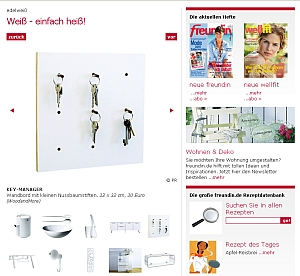 "Keymanager 4fold in the magazin ""FREUNDIN"" and on-line on freundin.de."