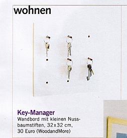 "Keymanager 4fold in the magazin ""FREUNDIN"" and on-line on freundin.de."