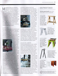 "Trestles Lycka in the November Issue of the magazine "" NEUES ZUHAUSE"""