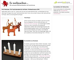 WOODandMORE Christmas items - felt tags and solid wood christmas candle sticks on solebich.de
