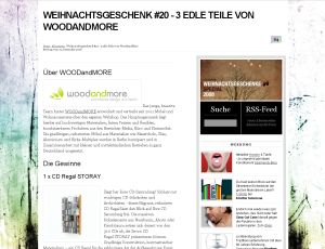 Christmas presents from WOODandMORE on StyleSpion.de