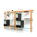 6051 - Storage Shelf QUADRA, cherry tree wood