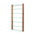 6080 - CD Shelving Unit STORAY for 300 CDs, walnut wood