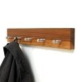 NEU: Garderobenleiste STRYBB aus Nussbaumholz im 4 Haken