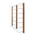 6116 - CD Shelving double unit STORAY for 600 CDs, walnut wood