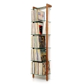 6123 - QUADRA LP Shelving unit walnut with 6 glass panes