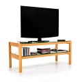 6130 - TV board, hi-fi board, coffee table made of solid cherry wood, glass