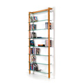 6139 - QUADRA DVD shelving unit and bookcase solid cherry wood