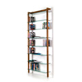 6140 - QUADRA DVD shelving unit and bookcase solid walnut wood
