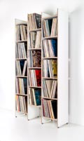 6145 - ORWE plywood shelf for records white - base module