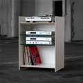 6210 - Hifi-Rack made of plywood - with glass or plywood shelves