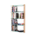 6252 - DVD Rack Shelving unit STORAY for 100 DVDs, ash tree