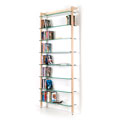 6257 - QUADRA DVD shelving unit and bookcase solid ash wood