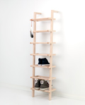 7115 - Large lean-on shoe rack made of ash