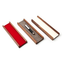 Pen tray made of solid walnut wood with felt inlay