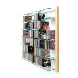 cd regal doppelelement aus ahorn holz f r 600 cds. Black Bedroom Furniture Sets. Home Design Ideas