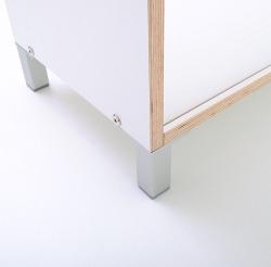 Boksa Regalsystem Modul in Birke-Multiplex weiß