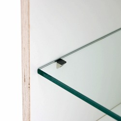 Glass pane for BOKSA cubes with 4 holders