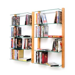 DVD Rack Shelving unit STORAY for 100 DVDs, cherry tree