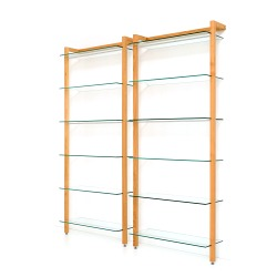 Storage Shelving Unit Quadra, cherry tree wood