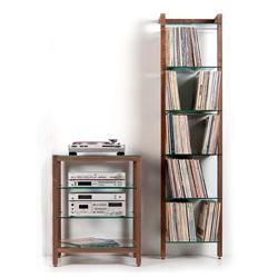 super sommer sonderaktion quadra lp regal hifi rack nussbaum. Black Bedroom Furniture Sets. Home Design Ideas