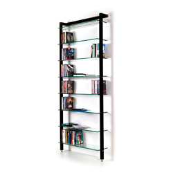 QUADRA DVD shelving unit and bookcase solid wood, black
