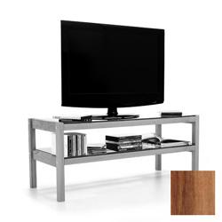 TV board, hi-fi board, coffee table made of solid walnut wood, glass
