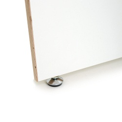 Puristic Desk white, plywood