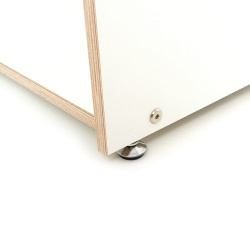 Design printer table and office container, plywood white