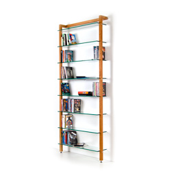 QUADRA DVD shelving unit and bookcase solid cherry wood