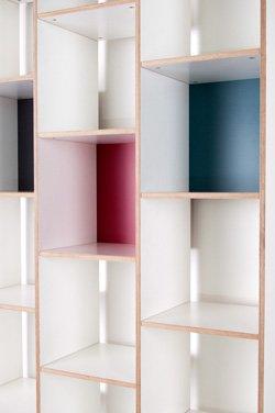 orwe schallplattenregal aus multiplex wei. Black Bedroom Furniture Sets. Home Design Ideas
