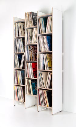 ORWE plywood shelf for records white - base module