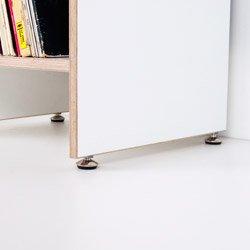 ORWE Multiplex-Regal weiß für Schallplatten - Erweiterungsmodul