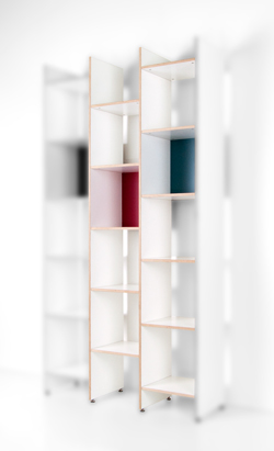 ORWE Plywood shelving for LP in white - Extension Element