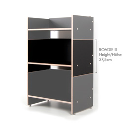 hifi regal roadie ii f r schallplatten verst rker. Black Bedroom Furniture Sets. Home Design Ideas